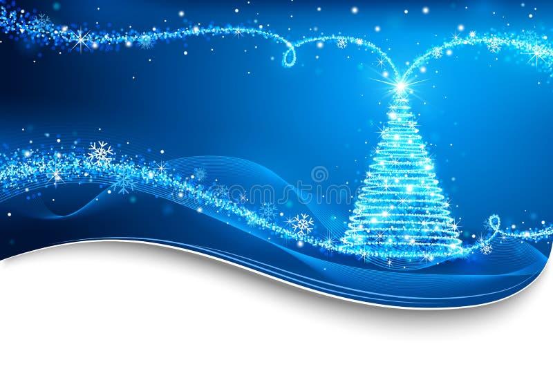 Magische Kerstboom royalty-vrije illustratie