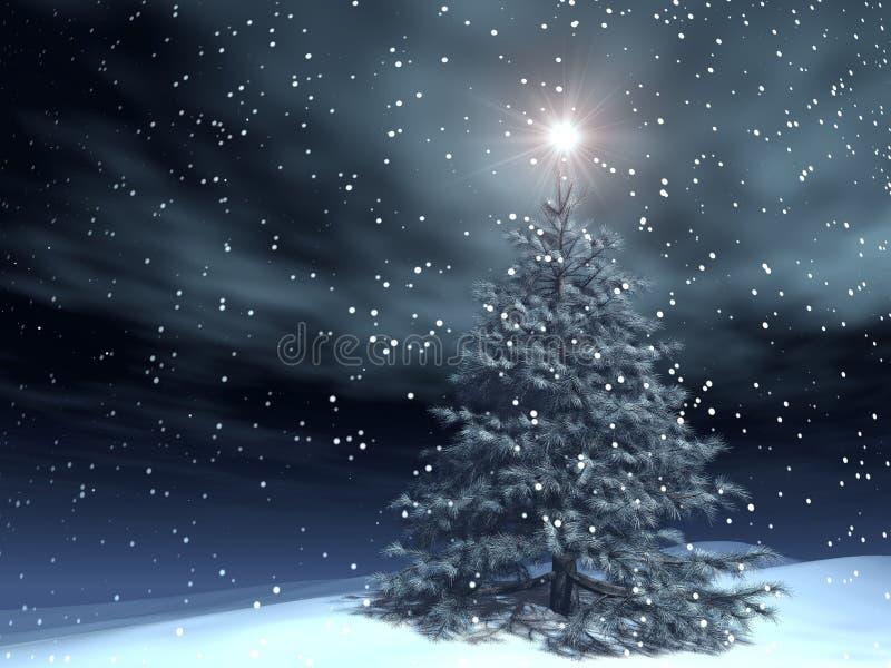 Magische Kerstmis vector illustratie