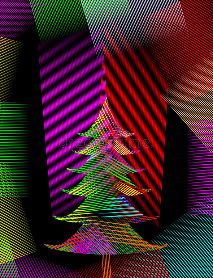 Magische Kerstmis royalty-vrije illustratie
