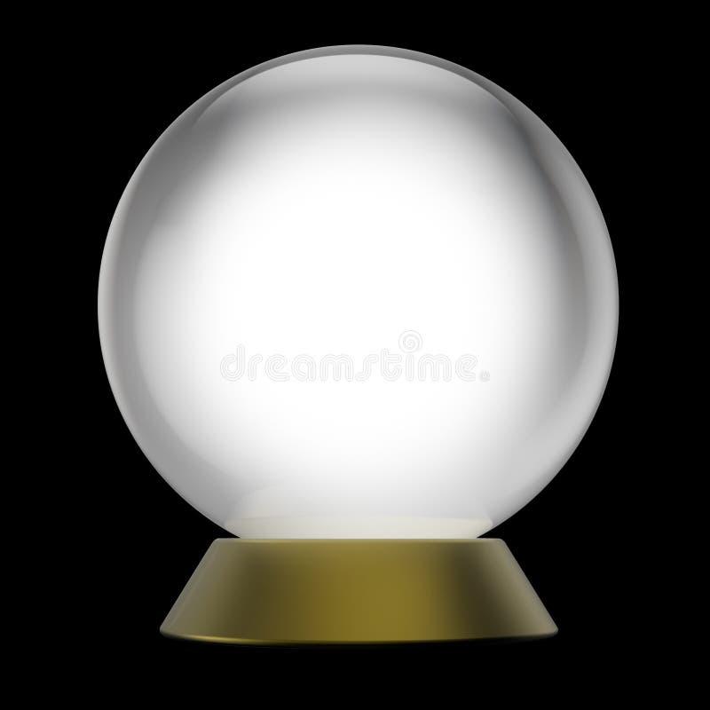 Magische Kristallkugel lizenzfreie abbildung