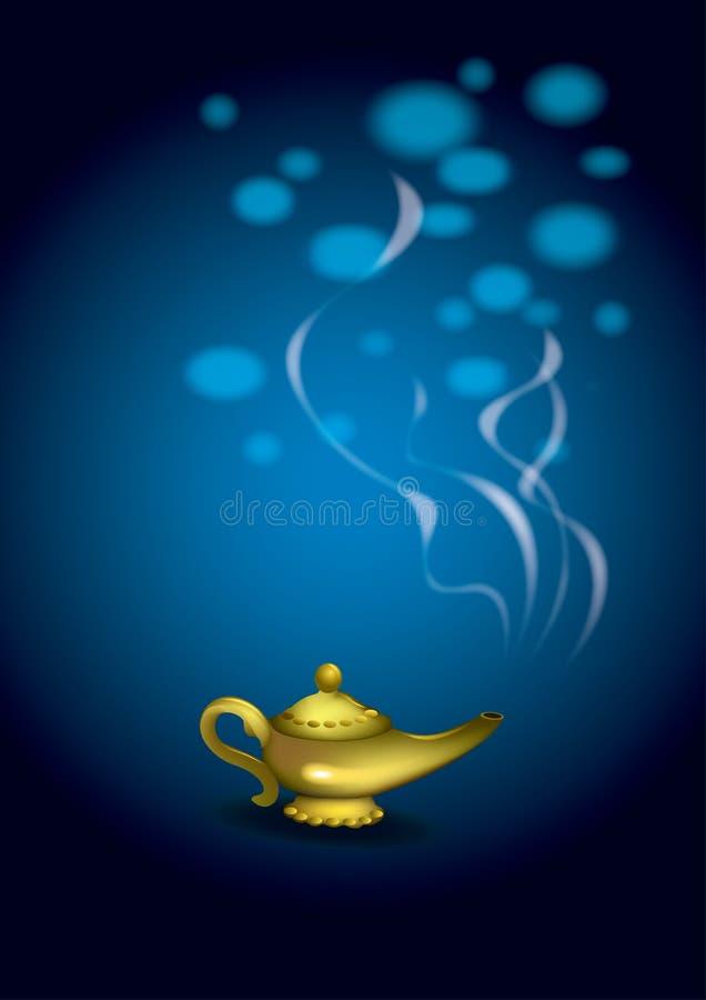 Magische Lampe stock abbildung