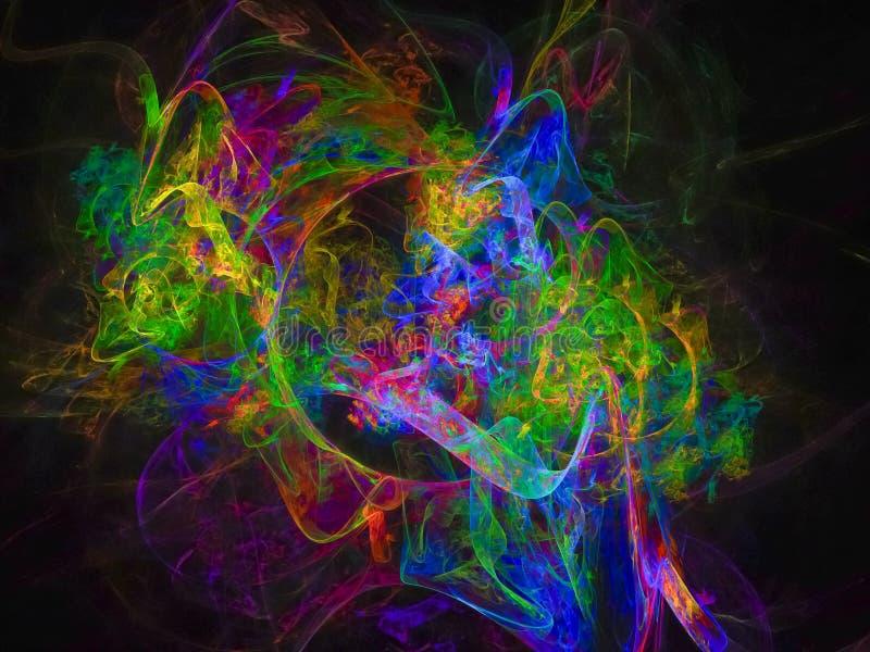 Magische Lichtenergiekreativität der abstrakten Fractaldigitalen Oberflächenformidee stock abbildung