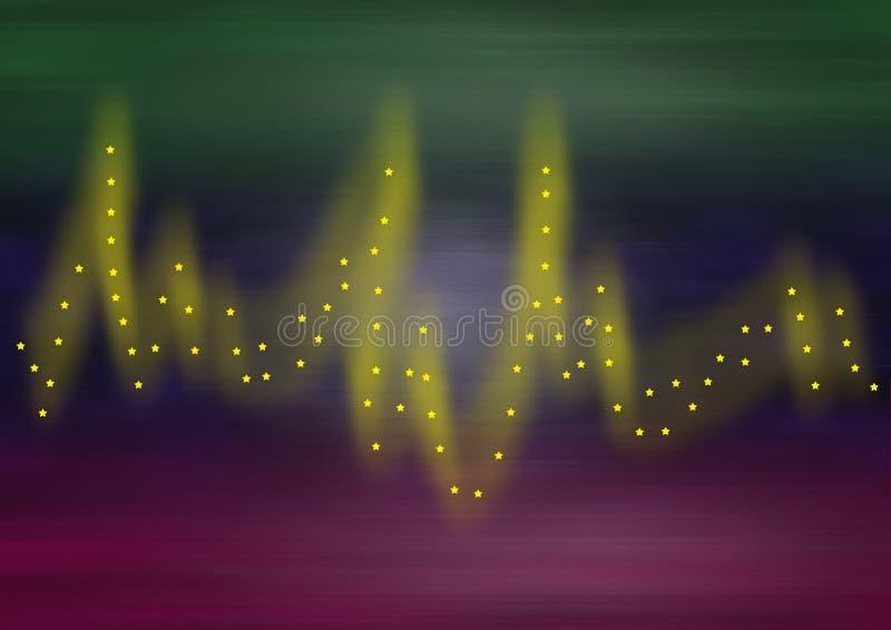 Magische lijnen met sterren royalty-vrije illustratie