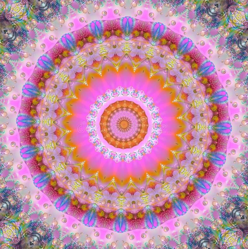Magische mandala royalty-vrije illustratie