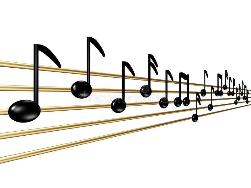 Magische musikalische Anmerkungen stock abbildung
