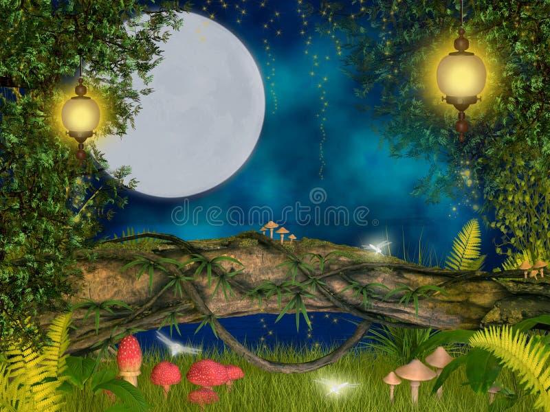 Magische nacht stock illustratie