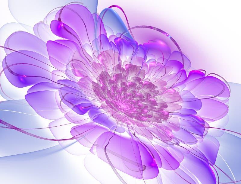 Magische nachtfantasie Abstracte exotische fractal achtergrond royalty-vrije illustratie