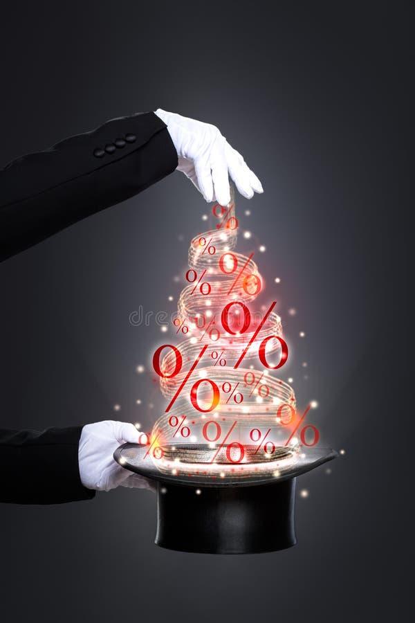 Magische Nieuwjaarkortingen stock foto