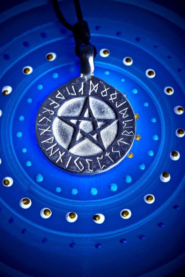 Magische pentagram royalty-vrije stock foto