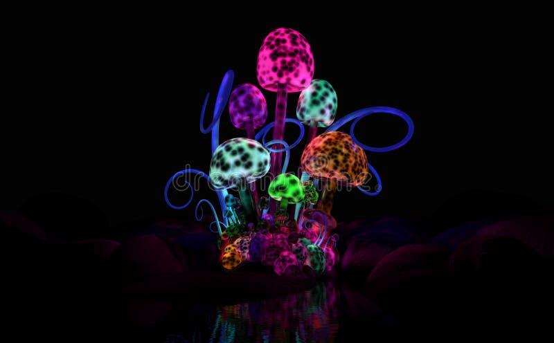 Magische Pilze stock abbildung