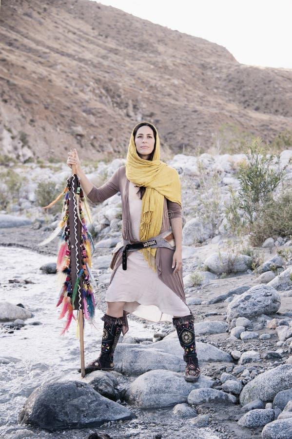 Magische Reise-Frau stockbild