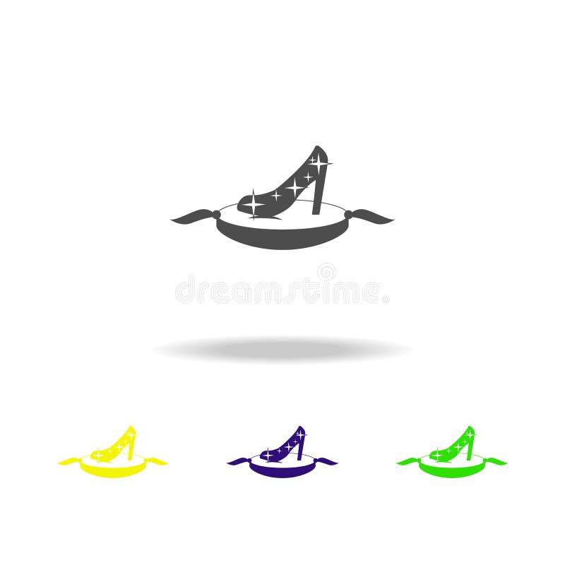 magische schoen multicolored pictogrammen Element van de illustratie van sprookjehelden Tekens en symboleninzamelingspictogram vo vector illustratie