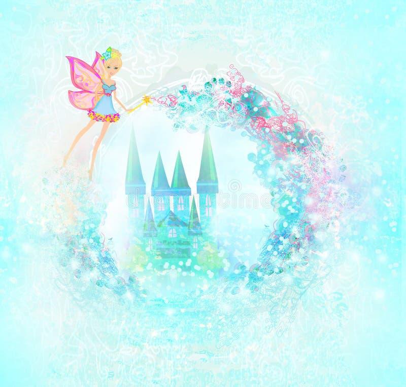 Magische Sprookjeprinses Castle vector illustratie