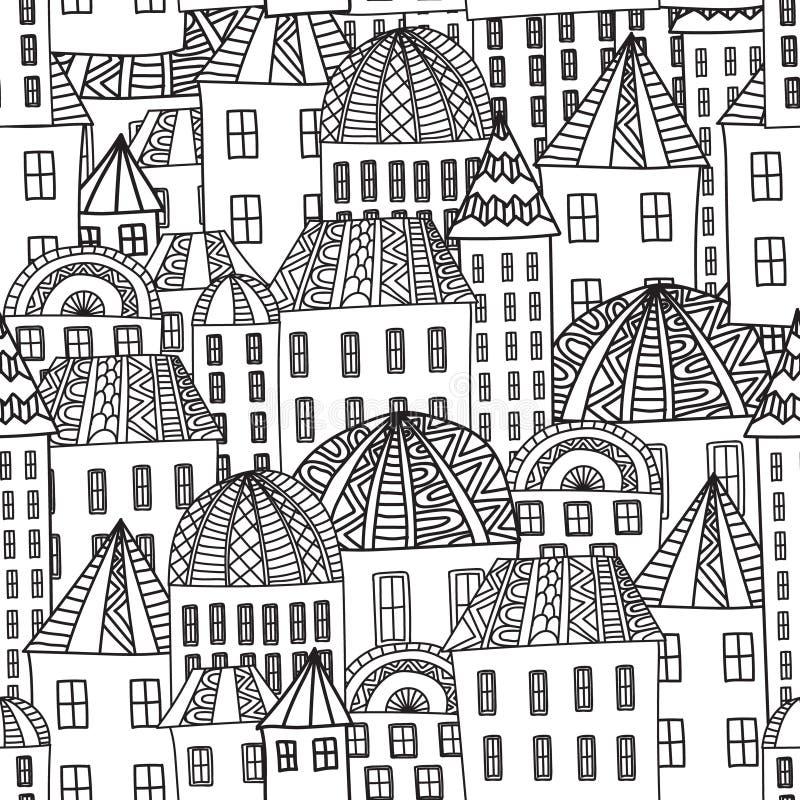 Magische stad royalty-vrije illustratie
