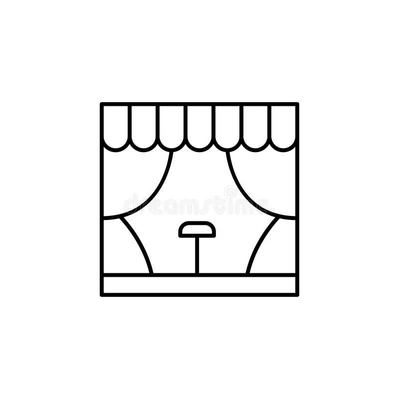 Magische Stadiumsbaugestaltungsikone Zeichen und Symbole können für Netz, Logo, mobiler App, UI, UX verwendet werden stock abbildung