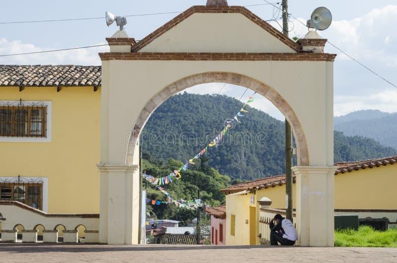 Magische Stadt in Oaxaca, Mexiko lizenzfreies stockbild