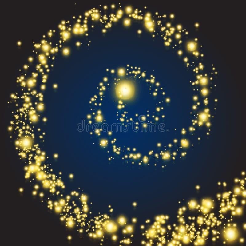 Magische sterrenwerveling vector illustratie