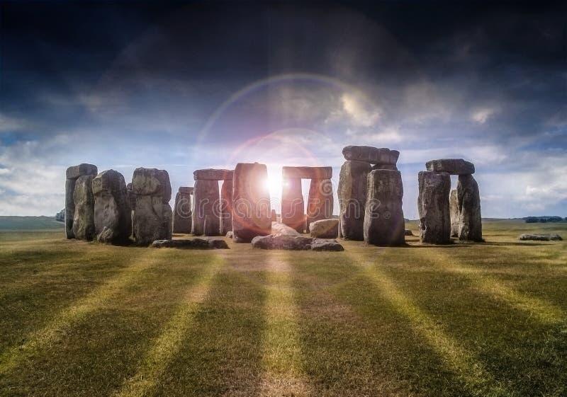Magische Stonehenge royalty-vrije stock afbeeldingen
