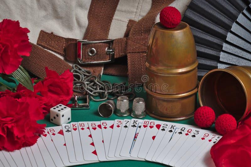 Magische trucsinzameling stock afbeelding