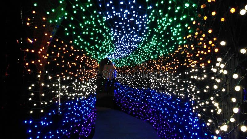 Magische Tunnel van Lichten stock afbeeldingen