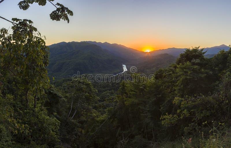 Magische Wasserfälle von Copalitilla und von Llano groß, Huatulco, Oaxaca Mexiko lizenzfreie stockbilder