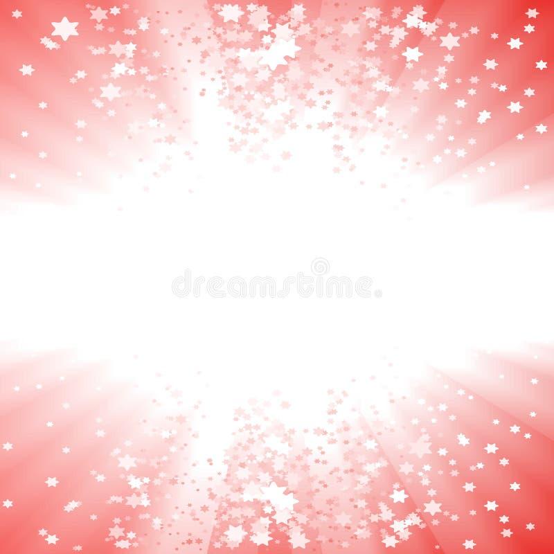 Magische Weihnachtssternexplosion vektor abbildung