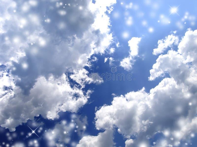 Magische Wolken lizenzfreie stockfotos