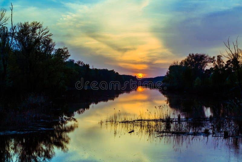 Magische zonsondergang royalty-vrije stock foto's
