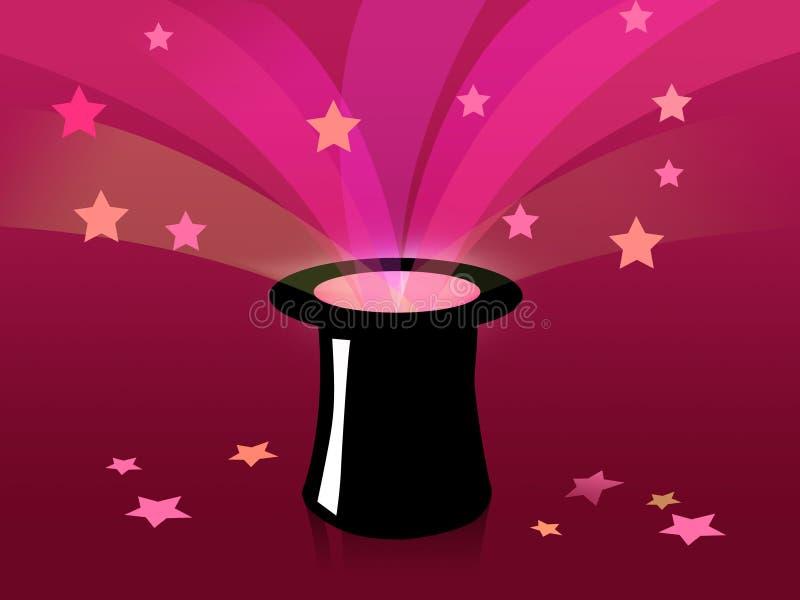 Magische zwarte derby vector illustratie