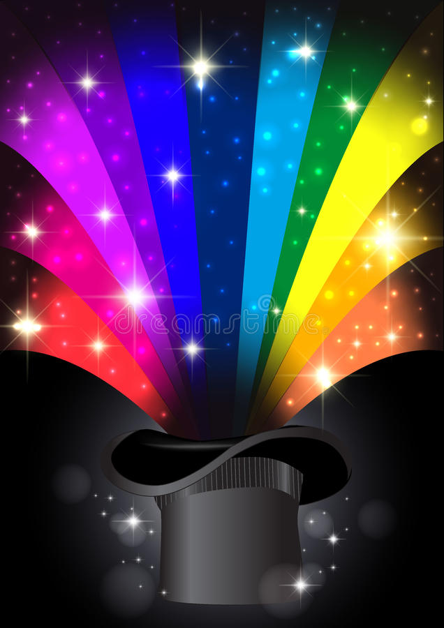Magischer bunter abstrakter Hintergrund des Regenbogens lizenzfreies stockfoto