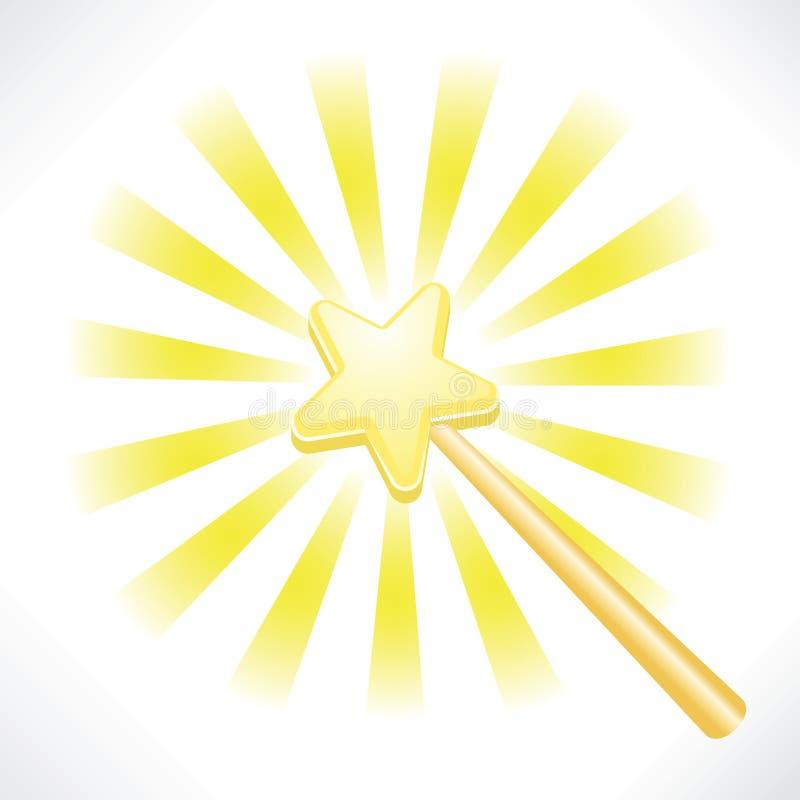Magischer feenhafter Stern-Stab vektor abbildung