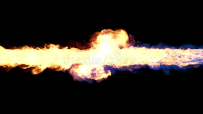Magischer Feuertornado vektor abbildung