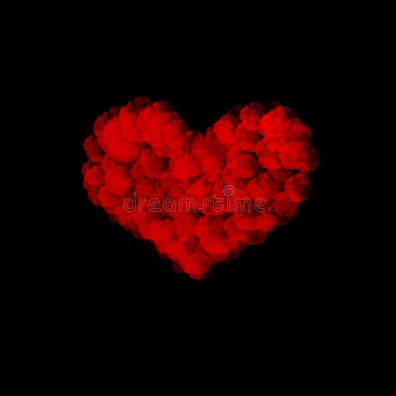 Magischer Herzzusammenfassungshintergrund vektor abbildung