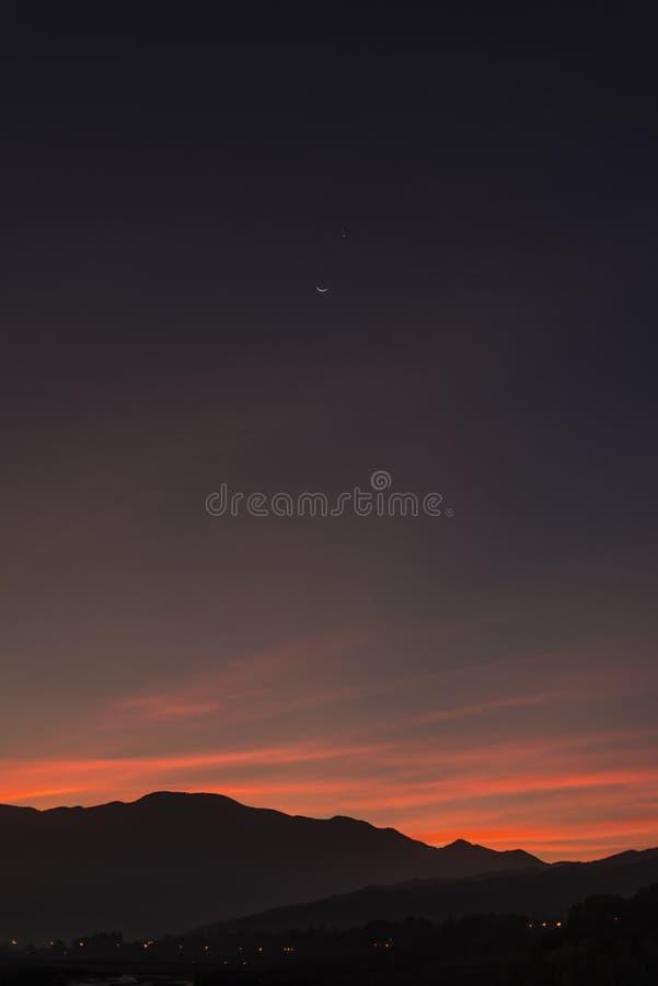 Magischer Himmel stockbild