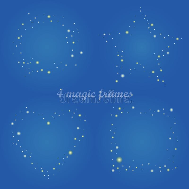 Magischer Rahmen für Design, Gestaltungselemente mit Schimmer stock abbildung