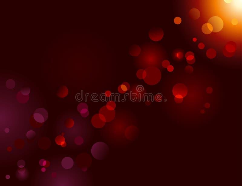 Magischer Schein, Lichtpunkte; Vektorbokeh Effekt lizenzfreie abbildung