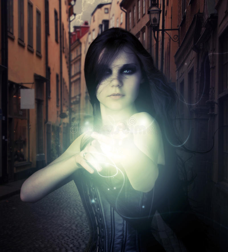 Magischer Schuß lizenzfreie stockfotografie