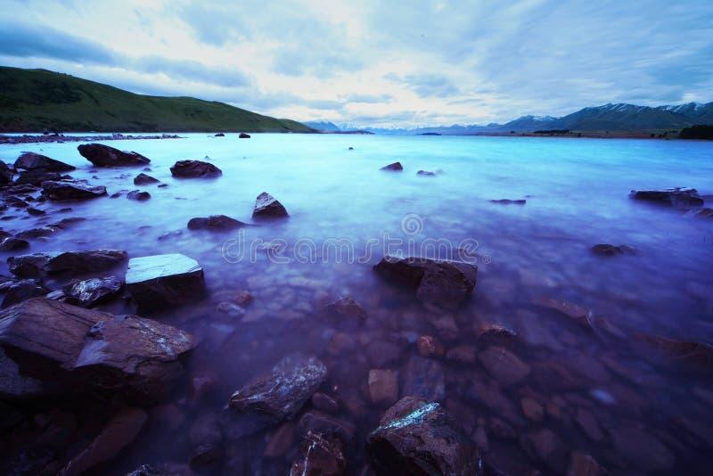 Magischer See Tekapo lizenzfreies stockfoto