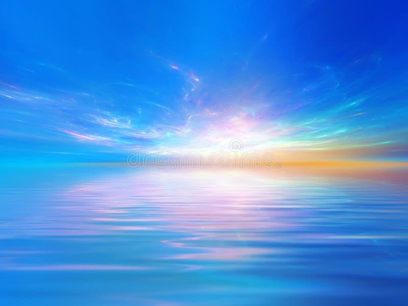 Magischer Sonnenuntergang stock abbildung