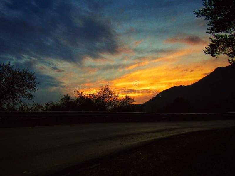Magischer Sonnenuntergang stockfotos