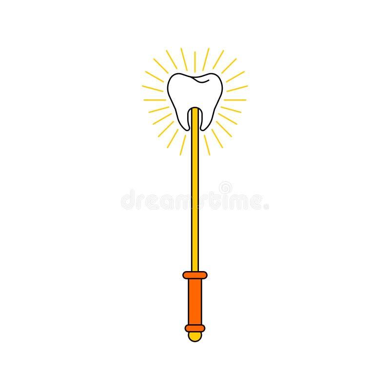 Magischer Stab der Zahn-Fee lokalisiert Auch im corel abgehobenen Betrag vektor abbildung