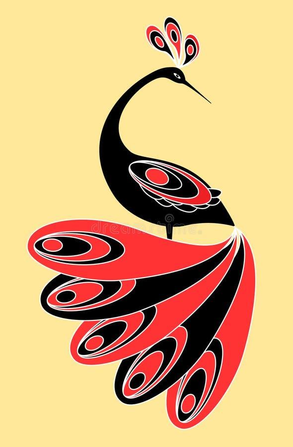 Magischer Vogel lizenzfreie abbildung