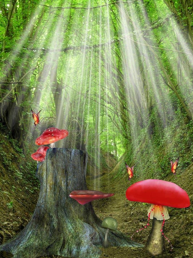 Magischer Wald lizenzfreie abbildung