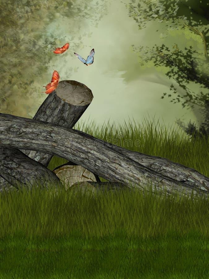 Magischer Wald stock abbildung