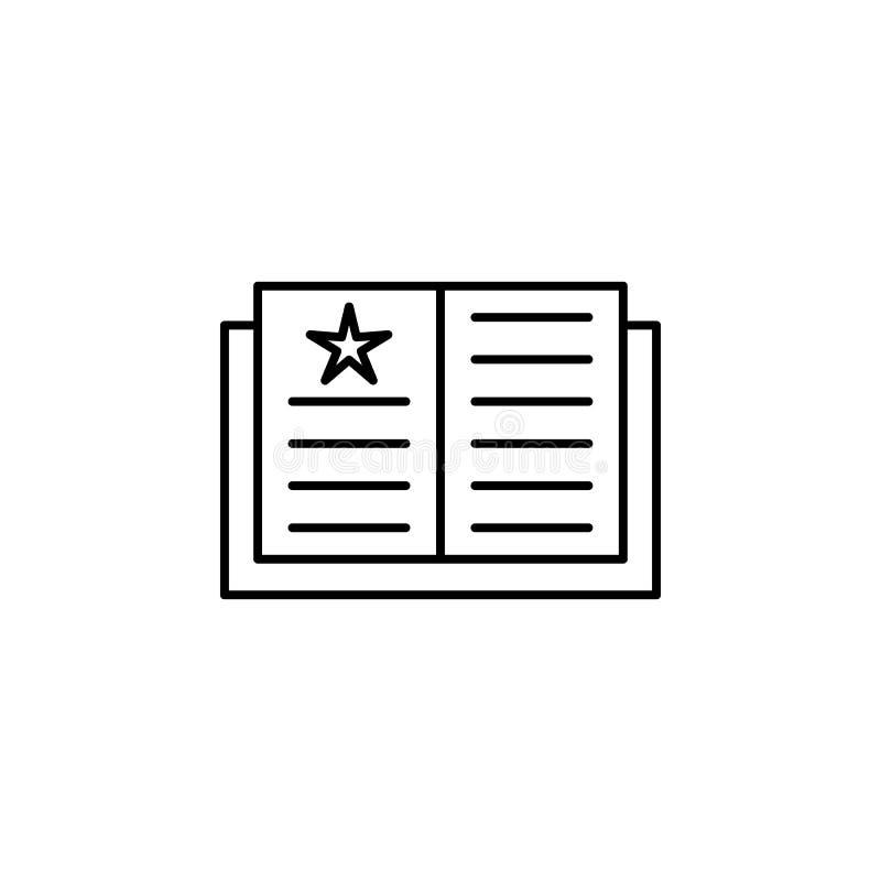 Magisches Buch, magische Ausbildungsentwurfsikone Zeichen und Symbole können für Netz, Logo, mobiler App, UI, UX verwendet werden stock abbildung