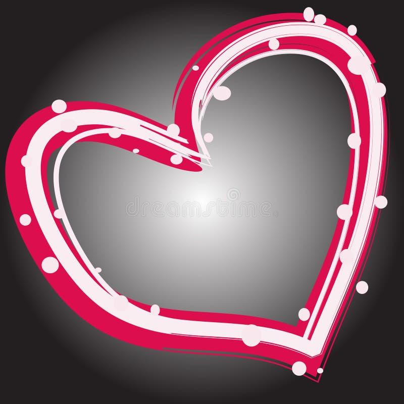 Magisches buntes Herz auf einem grauen Hintergrund vektor abbildung