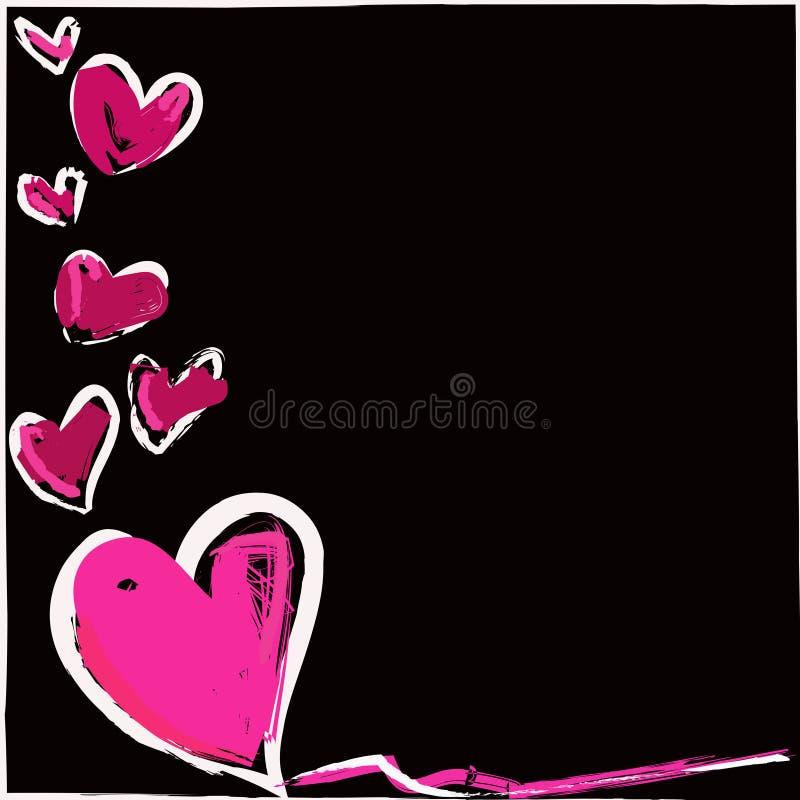 Magisches buntes Herz auf einem schwarzen Hintergrund lizenzfreie abbildung