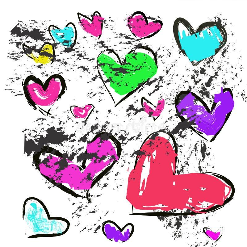Magisches buntes Herz auf einem weißen Hintergrund vektor abbildung