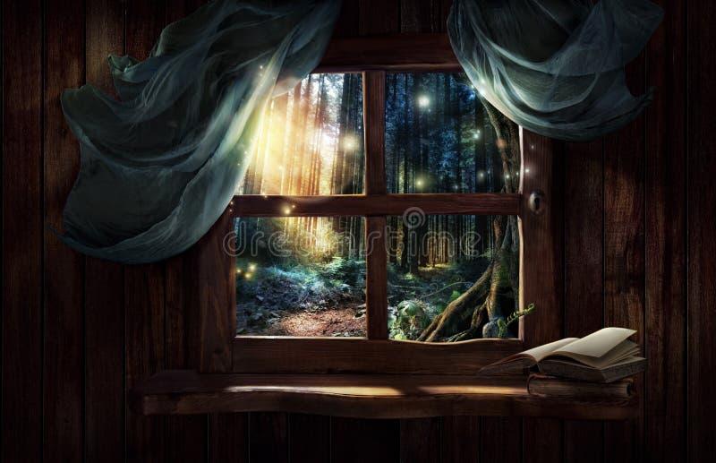 Magisches Fenster stockfotos