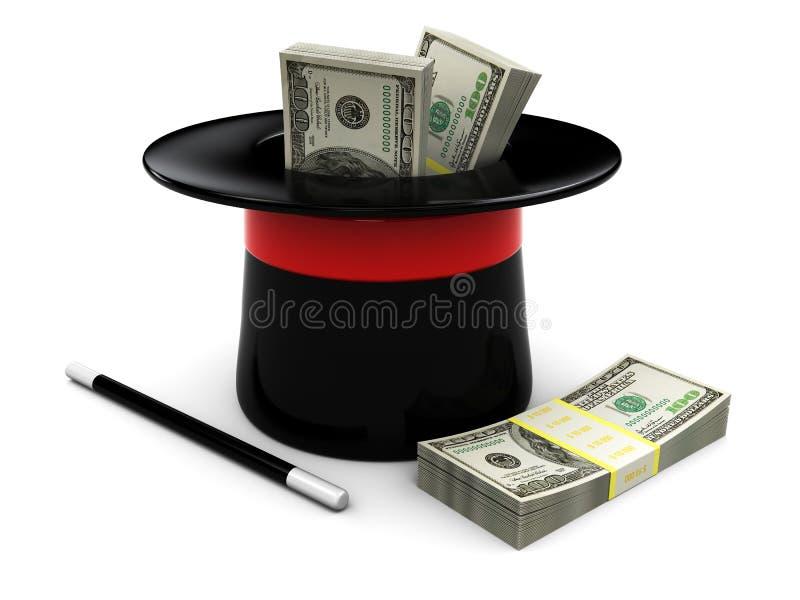 Magisches Geld stock abbildung